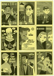 2019 Twilight Zone - Rod Serling Edit. Portfolio Prints Character Art 9 card set
