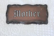 Beautifully Embossed Painted Antique Mother Coffin Casket Plaque Plate Heavy