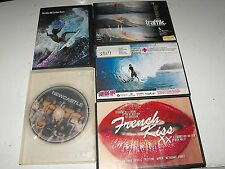 Mixed Lot Of 5 Great Surfing DVDS Hurley Collection-Newcastle-Shift-French Kiss