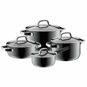 WMF Set Pentole 4-teilig Fusiontec Minerale Platinum - Made IN Germany