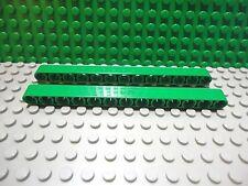Lego 2 Green technic 1x13 thick lift arm NEW