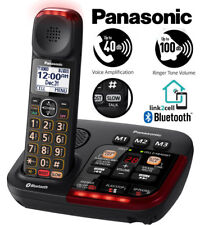 Panasonic Amplified Cordless Phone Digital Answering Visual Link2Cell KX-TGM430B