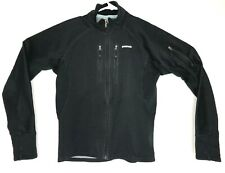 Patagonia womens Small Jacket Black Full Zip Soft Shell Fleece Lined 24985F7 A25