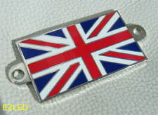 Union Jack Badge Full Colour Enamel on Chrome Metal Emblem Screw Fit NEW