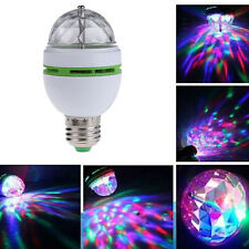 Auto E27 3W RGB Voice Rotating DJ Disco Stage Light Crystal LED Ball Bulb Lamp