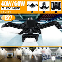 Deformable 40/60W E27 LED Garage Work Lights Home Ceiling Fixture Shop Lamp
