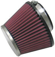 RC-1624 K&N Universal Chrome Air Filter 60MM FLG, 132MM B OD, 89MM T OD, 95MM H
