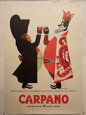 A. TESTA BRINDISI RE CARPANO NAPOLEONE BONAPARTE ed. 1956 manif. orig. TELATO