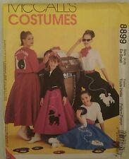 McCall's Costumes 8899 Rockabilly Poodle Telephone Circular Skirt Uncut 4-6 X-S