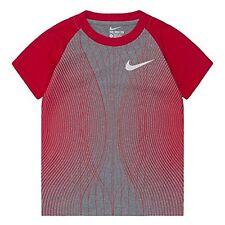 Nike Toddler Dri-Fit Performance Raglan Ss Tee * Dark Gray Heather/Red * Nwt