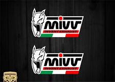 PEGATINA MIVV EXHAUST ESCAPES BANDERA ITALIA ITALY FLAG VINILO VINYL STICKER