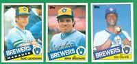 1985 TOPPS MILWAUKEE BREWERS TEAM SET NM/MT  SUTTON  FINGERS  MOLITOR  YOUNT