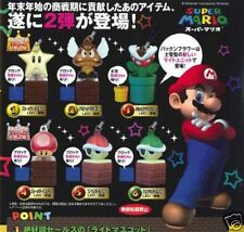 Super Mario Light Mascot Keychain Series 2 - Set of 6 Gashapon Capsule New Japan
