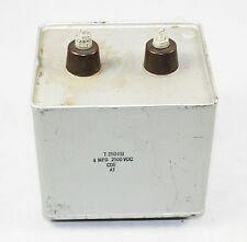 HV Capacitor 4uF, 2.5KV DC Part#T25040J