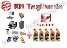 KIT TAGLIANDO OLIO CASTROL 5W30 + FILTRI SEAT LEON II 2.0 TDI 140 CV 103 KW *