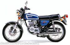 SUZUKI GT185 GT185L 1974 TANK DECAL SET