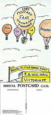 1987 BRISTOL POSTCARD FAIR LIMITED EDITION ADVERTISING POSTCARD NUMBER 2