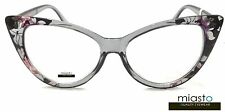 ~ 2 PAIRS ~  MIASTO WOMENS VINTAGE BIG CAT EYE LARGE READER READING GLASSES+1.75