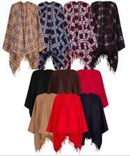 Womens Wool Cape Shawl Wrap Cardigan Jacket Coat Ladies Scarves Poncho Top Warm