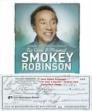 WILLIAM SMOKEY ROBINSON   MOTOWN SINGER   SIGNED BANK CHEQUE / CHECK  1992  RARE