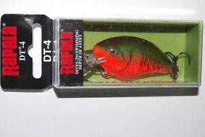 "rapala dt-4 dt04 rcw red crawdad bass crankbait dives to 4'  2"" 5/16oz"