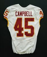#45 Campbell of Washington Redskins NFL Game Issued Player Worn Jersey