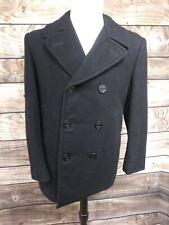VINTAGE US Navy Authentic Men's Wool Pea Coat Jacket ~ 40 R