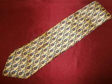 Classy Creazioni Stelen Champion Horses Equestrian Yellow Silk Tie