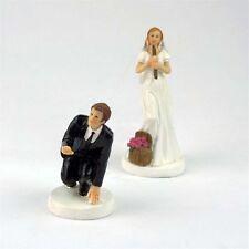 Wedding Cake Topper Bride and Groom Funny Fishing Wonderful Figurine Decoration
