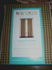 2 Waverly 52x84 Grantham Brown Plaid HOUNDSTOOTH Grommet Window Curtain Panels