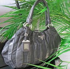 PRADA Handbag Nappa Stripe Leather BAG -100% Authentic