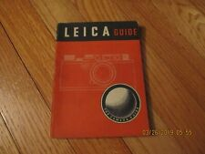 1948 LEICA GUIDE- HOW TO WORK THE LEICA W D Emanuel FOCAL PRESS BOOK CAMERA