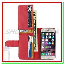Cover Custodia Case Leather Card Slot Portafoglio Similpelle Iphone 6 Red