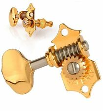 Waverly #4060-G guitar tuners, solid peghead, gold, butterbean knob