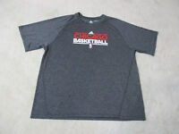 Adidas Chicago Bulls Shirt Adult 2XL XXL Gray Red Dri Fit NBA Basketball Mens