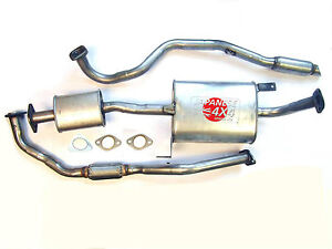 fits: FORD MAVERICK 2.7TD LWB 1993-99  NEW COMPLETE EXHAUST SYSTEM + GASKETS