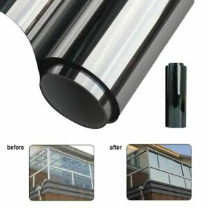 Blackout Silver Mirror Tint Window Film For Privacy To Block Sun UV Protection