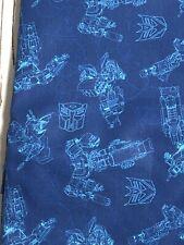 Transformers Optimus Prime Blue Cotton CEA Fabric Fat Eighth 9x21 Quilt Crafts