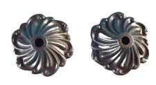 1 paire Ancien Ornement vague Architecture laiton Fleur Rosace Rinceaux Vintage
