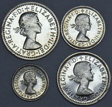 1963 MAUNDY SET - ELIZABETH II BRITISH SILVER COINS - SUPERB