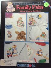 Family Pairs and Stack O' Santa Cross Stitch Leaflets Waste Fabric Lot