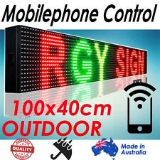 105x40cm, RGY Phone/Wifi Control Scrolling Programmable LED Board/Sign Outdoor