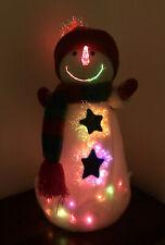 Fiber Optic Snowman Color Changing Christmas Decoration 15� Tall Stars