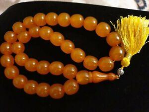 Natur BERNSTEIN Tesbih  Real Amber Rosenkranz Gebetskette