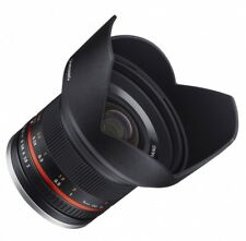 Samyang 12 mm f2.0 NCS CS Fuji X Objectivement Noir Grand angle du revendeur