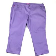 "WOMAN WITHIN colored jeans 30WP 30W Petite purple cropped 27"" inseam b408"