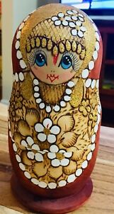 "Vintage Wooden Nesting Doll 6.5"" Tall"