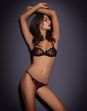 Agent Provocateur Maddy Black   Pink Bra 34DD   Thong AP 5 Set - Brand New 85efe1843