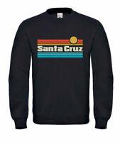 Sweatshirt Unisex -70er 80er CA Retro Retro Sunset Santa Cruz