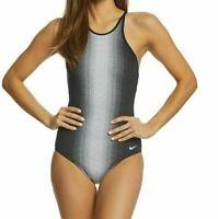 Nike Ombré High-Neck One-Piece Racerback S01 Swimsuit Black Size 34 Women's 8